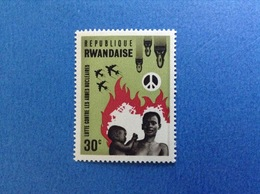 RWANDA REPUBLIQUE RWANDAISE LOTTA CONTRO LE ARMI NUCLEARI 30 C FRANCOBOLLO NUOVO STAMP NEW MNH** - 1962-69: Nuovi