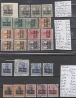 TIMBRES D ALLEMAGNE NEUF** / */ OBLITEREES1917 POLEN (IN ROUMANIEN) Nr VOIR SUR PAPIER AVEC TIMBRES COTE 67.30 € - Besetzungen 1914-18