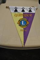 Rare Fanion Lion's Club Quimper 1954 - Organisations