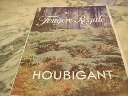 ANCIENNE PUBLICITE PARFUM FOUGERE ROYALE  DE HOUBIGANT 1951 - Parfums & Beauté