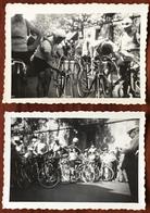 3 Photos. (Cyclisme) Circuit De L'Ouest-Eclair 1936 (Tour De L'Ouest). Publicité Vélo Thomann. - Sport