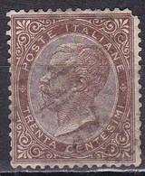 Regno D'Italia, 1863 - 30c Serie De La Rue O Effige Di Vittorio Emanuele II - Nr.19T Usato° - 1861-78 Vittorio Emanuele II
