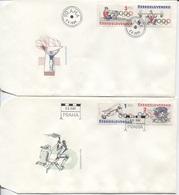 CSSR # 2782-5 FDC. Olypische Sommerspiele Radrennen Rudern Hochsprung Gewichtheben - FDC