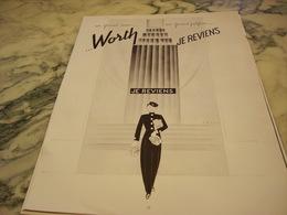ANCIENNE PUBLICITE PARFUM JE REVIENS DE  WORTH 1951 - Parfums & Beauté