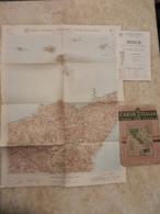 6) SICILIA ETNA FOGLIO 51 CARTA D'ITALIA DEL TOURING CLUB COMPLETO DI INDICE E BUSTA IN CARTA PERGAMENACEA - Cartes Topographiques