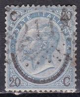 Regno D'Italia, 1865 - 20c Su 15c Ferro D Cavallo, III° Tipo - Nr.25 Usato° - Usati