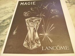ANCIENNE PUBLICITE PARFUM  MAGIE DE LANCOME 1951 - Parfums & Beauté