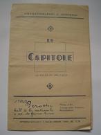 PROGRAMME Ancien : PUBLICITE CINEMA LE CAPITOLE - TUNIS / FILM PINOCCHIO - WALT DISNEY Vers 1950 - Programmes