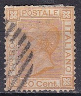 Regno D'Italia, 1877 - 20c Vittorio Emanuele II - Nr.28 Usato° - Usati