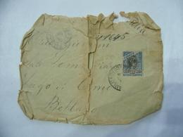 BUSTA  FRANCOBOLLO 500 REIS BRAZIL  TIMBRO SAN PAOLO BELLANO COMO 1904 - Brasil