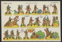 Transmissions Militaires Soldats Pour Jouer à Découper 1958 Soldados Recortables España Toy Soldiers Cut-Out Paper Army - Découpis