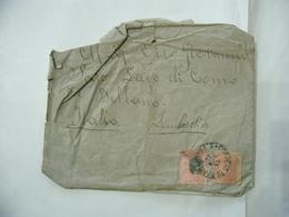 BUSTA  FRANCOBOLLO 100 REIS BRAZIL  TIMBRO SAN PAOLO BELLANO COMO 1895 - Brasil