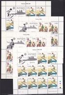 1981 Malta EUROPA CEPT EUROPE 20 Serie Di 2v. MNH** In 4 Minifogli 4 Minisheets - 1981