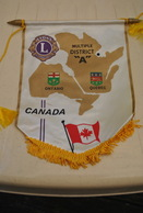 Rare Fanion Lion's Club Canada - Organisations