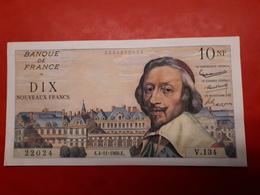 10 NF Richelieu Du 4/11/1960 TTB - 1959-1966 ''Nouveaux Francs''