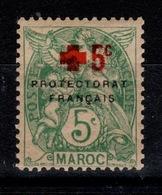 Maroc - YV 59 N* (tropicale) Type Blanc Croix Rouge Cote 3,20 Euros - Marocco (1891-1956)