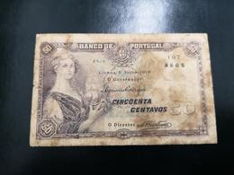 Portugal PAPEL NOTA 50 CENTAVOS CH 1  5 JULHO 1918 - Portugal