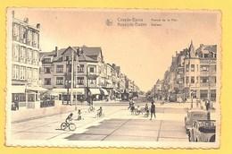 "Carte Postale En Noir & Blanc "" Avenue De La Mer "" à KOKSIJDE-BADE - Koksijde"