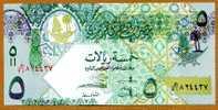 """*Nouveaux* 5 Riyals  """"QATAR""""    2009  UNC     Bc37 - Qatar"""
