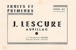 AURILLAC - FRUITS & PRIMEURS - J. LESCURE - Alimentaire