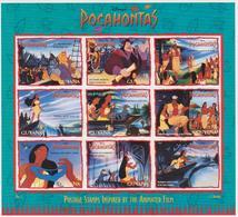 """GUYANA """"Pocahontas"""" 1995 DISNEY/ 9v Sht MNH - Cartoons - - Disney"""
