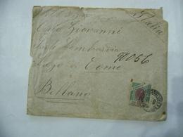 BUSTA FRANCOBOLLO 1000 REIS BRAZIL  TIMBRO SAN PAOLO BELLANO COMO 1901 - Brasil