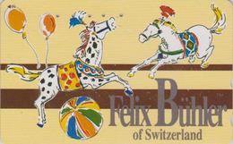 Télécarte Japon / 110-011 - CIRQUE BÜHLER Suisse - Cheval Ballon - CIRCUS Horse Balloon JAPAN Phonecard  - 241 - Painting