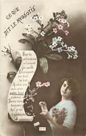 -ref-B24- Fleurs - Fleur - Myosotis - Langage - Ce Que Dit Le Myosotis - Langages - Carte Bon Etat - - Fleurs