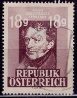 Austria 1947, Franz Grillparzer, 18g, Sc#489, Used - 1945-.... 2. Republik