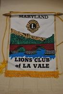 Rare Fanion Lion's Club Maryland La Vale - Organizations