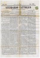 GENOVA - STENDARDO CATTOLICO - GIORNALE 1864 CON AFFRANCATURA 1 CENTESIMO - Avant 1900
