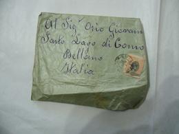 BUSTA FRANCOBOLLO 200 REIS BRAZIL  TIMBRO SAN PAOLO BELLANO COMO 1895 - Brasil