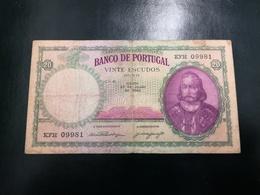 Portugal PAPEL NOTA 20$00  27 JULHO 1948 - Portugal