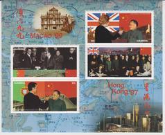 Gambia Macao / Hong Kong / Political Celebrities Map - Francobolli