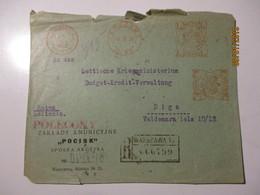 1930 POLAND WARSZAWA POCISK MILITARY AMMUNITION   ,  TO LATVIA , FRONT OF THE COVER   , O - 1919-1939 Republic