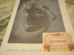 ANCIENNE PUBLICITE PARFUM  LA SOUS POUDRE DE CARON 1954 - Parfums & Beauté