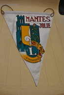 Rare Fanion Lion's Club Mantes La Jolie - Organisations