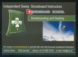 Suiza. *Snowboard School* Impreso Flyer. Meds: 105x147 Mms. - Postales