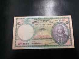 Portugal PAPEL NOTA 20$00  CH 6 25 MAIO 1954 - Portugal