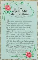 -ref-B20- Langages - Le Langage De L Ecriture - Graphologie - Carte Bon Etat - - Cartes Postales