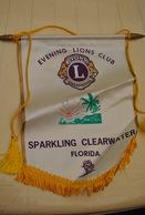 Rare Fanion Lion's Club Sparkling Clearwater Floride - Organizaciones