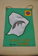 Rare Fanion Lion's Club Cayenne Guyane - Organisations