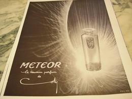 ANCIENNE PUBLICITE PARFUM METEOR  DE COTY  1951 - Affiches