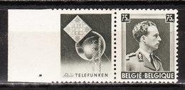 PU105**  Leopold III Col Ouvert - Telefunken - MNH** - COB 8 - Vendu à 13.50% Du COB!!!! - Werbung