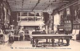 SPORT ( BILLARD ) - 18 - MEILLANT ( Près ST AMAND MTD ) Le Grand Salon - Billard En 1er Plan - CPA Cher ( Berry ) - Cartes Postales