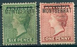 Montserrat - 1876 - Yt 1 Et 2 -Victoria - * Charnière - Montserrat