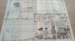 Affiche Poster Spirou. Hydro-Aéroplane M. Farman. - Affiches