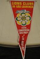 Rare Fanion Lion's Club 18 Eme Convention Nationale Sao Lourenço 1971 - Organizaciones