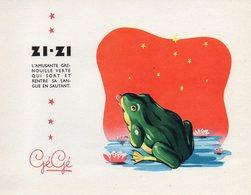 BUVARD Publicitaire Jouets Gégé De Montbrison (loire) ZIZI L'amusante Grenouille - Buvards, Protège-cahiers Illustrés