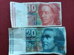 SUISSE Lot De 2 Billets 20 Frs + 10 Frs - Suisse